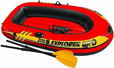 """Explorer Pro 200 Inflatable Boat Dinghy Set 77"""" x 40"""" With Oars & Pump TY5264"""