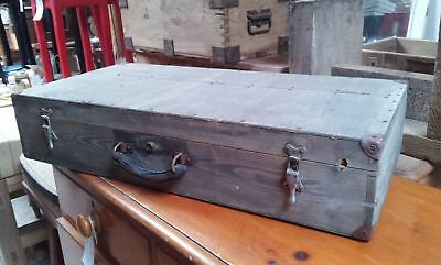 Reclaimed Stripped Pine & Ply Old Fashioned Tool Storage Box