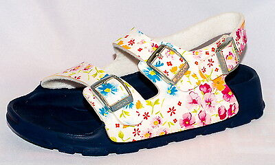 Birki's Sandals by Birkenstock for Girls Strap Aruba Magic Flower White - Birkenstock Sandals For Girls