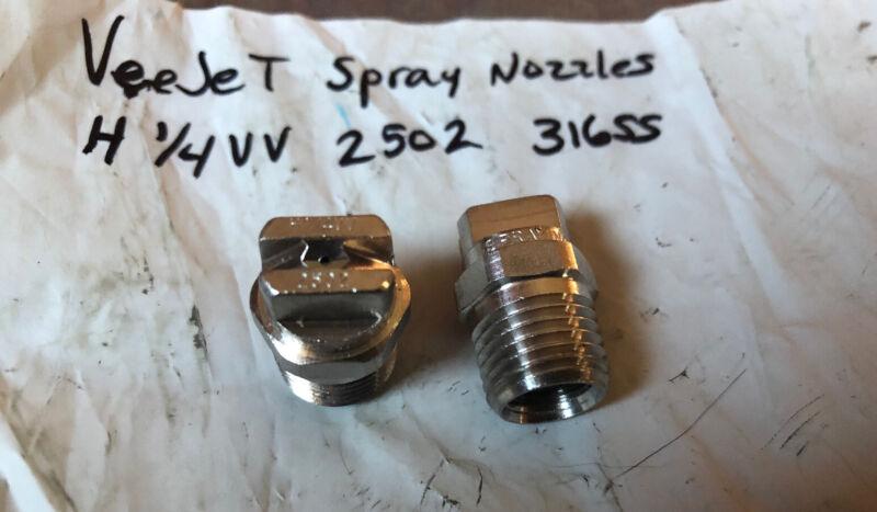 "New (14) Spraying Systems VeeJet Nozzle 1/4"" H1/4VV 2502 316SS, H1/4VV-316SS2502"