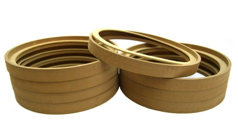 "8 Pieces 12"" MDF Speaker Rings with Bezel Mounting Spacer for Fiberglass Install"