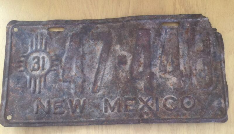 Collectible 1931 New Mexico License Plate