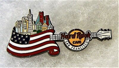 HARD ROCK CAFE SAN FRANCISCO COUNTRY FLAG SKYLINE GUITAR SERIES PIN # 95246
