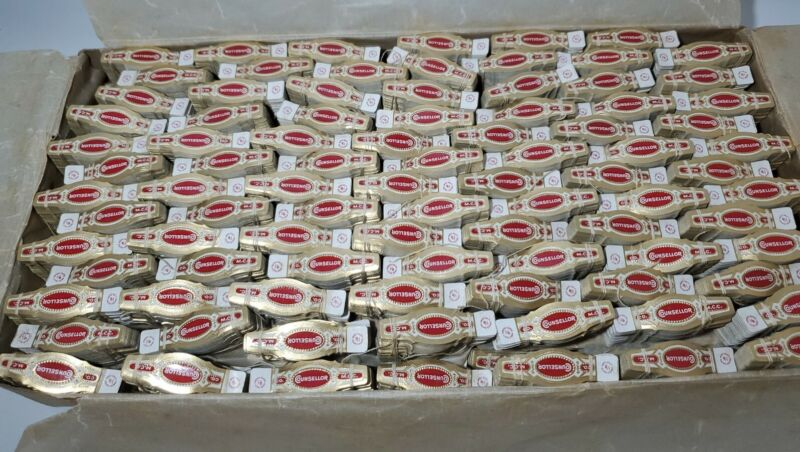 HUGE LOT OF 45,000 OLD VINTAGE COUNSELLOR CIGAR LABELS WRAPPER BANDS RARE