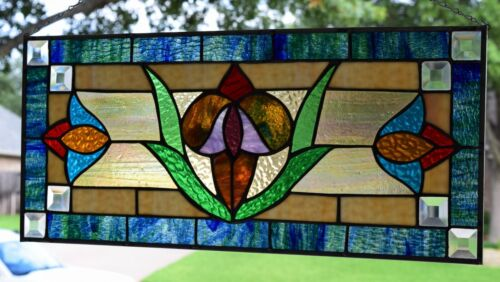 """Elm St. Victorian"" Stained Glass Window Panel"