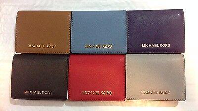 Michael Kors Wallets Saffiano Leather Jet Set Travel Flap Card Holder