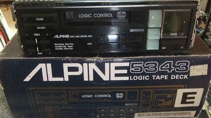 ALPINE 5343 LOGIC TAPE DECK NOS VERY RARE