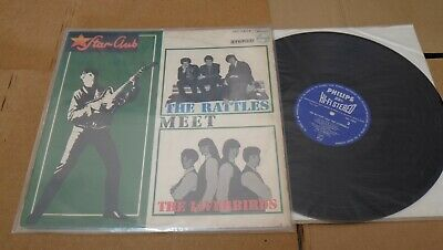 "STAR CLUB THE RATTLES MEET THE LIVERBIRDS JAPAN LP 12"" PHILIPS SFL-7248"