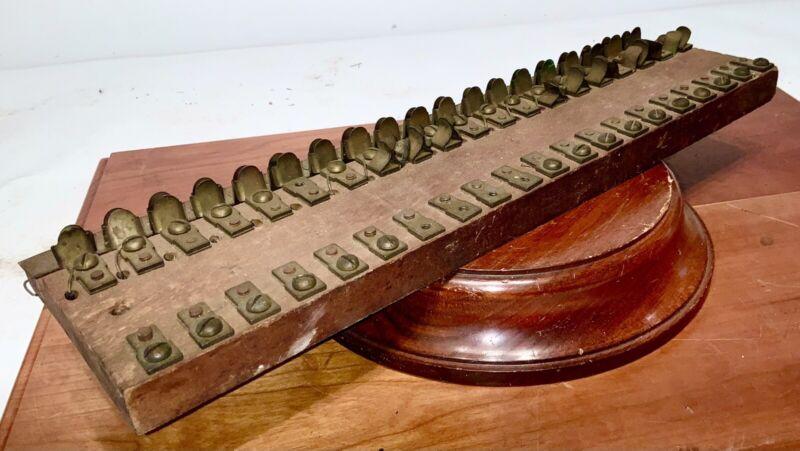 c1880 TERMINAL SWITCH BLOCK FROM F. BLAKE TELEPHONE LABORATORY NO RESERVE