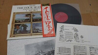 "VIVALDI THE FOUR SEASONS I MUSICI JAPAN LP 12"" w/OBI+BOOKLET PHILIPS X-8501 NM"
