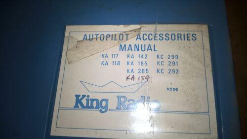 Bendix King Autopilot Accessories KA 117/118/142/185/285/290/291/292 main manual