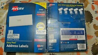 2 X New Avery 5160 Laser 1 X 258 3000 X 2 6000 Address Labels Priority Sh
