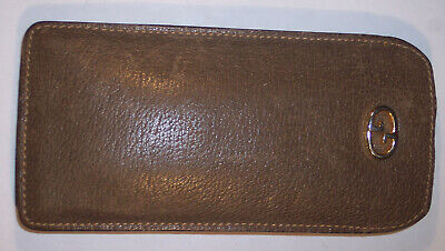 VINTAGE GUCCI BROWN LEATHER GLASSES CASE