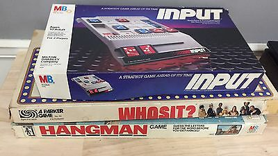 Vintage Board Game Lot Input Hangman Whosit