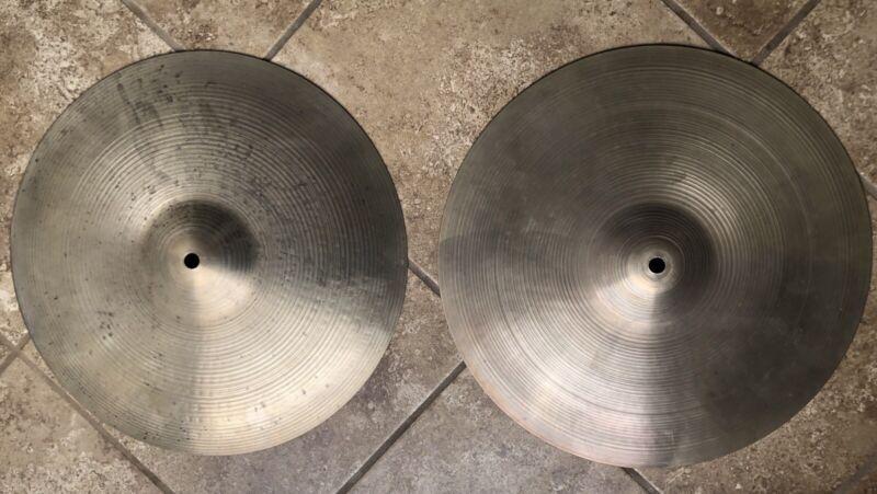 Zildjian Avedis 14in Hi Hat Cymbals Top & Bottom 1960