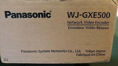 Panasonic Wj-gxe500 H264 Real Time Network Video Encoder 4 Ch Never Used