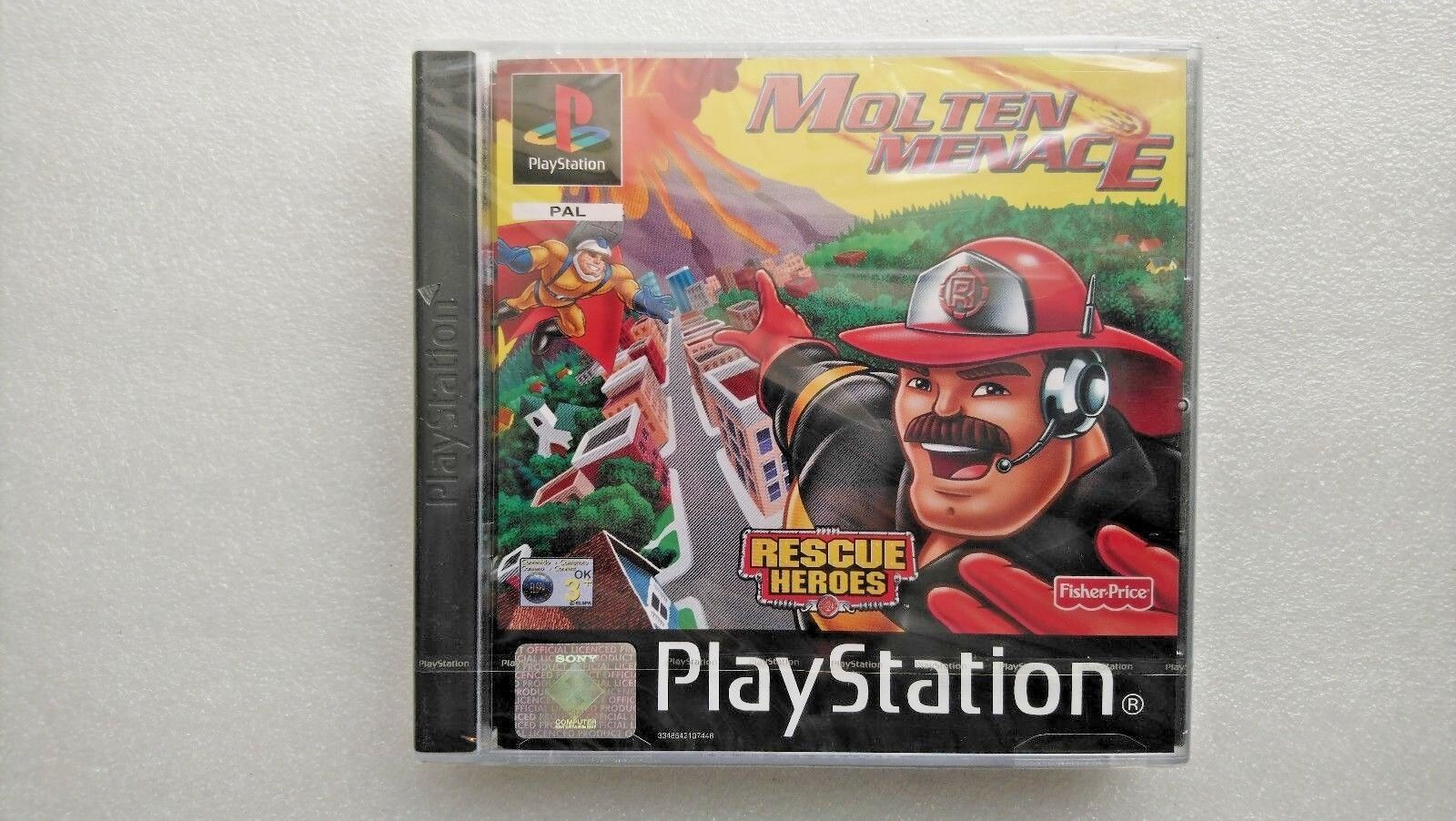 Rescue Heroes: Molten Menace (Sony PlayStation 1, 2001) - NEW and SEALED