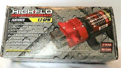 Fimco High-flo High Performance 1.2 Gpm 60 Psi 12v Pump Hfp-12060-111