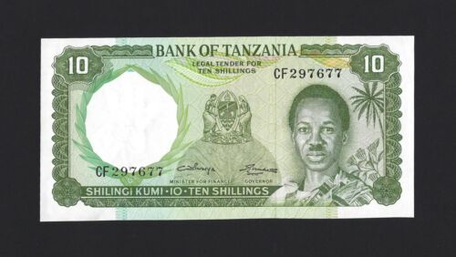 TANZANIA 10 Shillings 1966, P-2b, Pack Fresh UNC & A Pretty Type