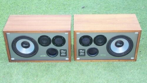 Pair of Ohm Model L-2 Vintage Speakers Wood Cabinet Need to be Re-foamed