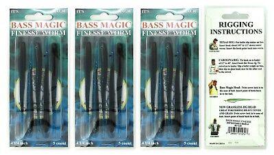 (3) Packs Of 5 Bass Magic 4 1/4