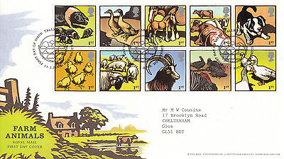 11 JANUARY 2005 FARM ANIMALS ROYAL MAIL FIRST DAY COVER BUREAU SHS (n)