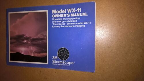 3M StormScope WX-11 Owner's Pilot's Manual weather mapping system