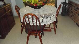Dining table & 4 chairs protective glass sheet on table + ++++ Ashmore Gold Coast City Preview
