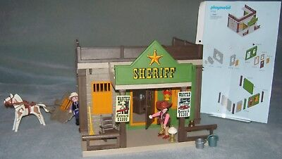 PLAYMOBIL WESTERN  Fabulous Playmobil Sheriff's office set 3786 VGC COMPLETE