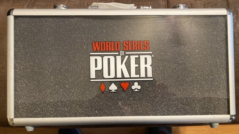 World Series Of Poker Excalibur 300 Chip Poker Set Brand New Contents Never Open
