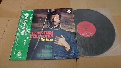 "CLINT EASTWOOD THEMES FROM THE WESTERN MOVIES DELUXE JAPAN LP 12"" w/OBI JDX-63"