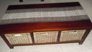 coffee table with 6 drawerinserts - 3 on each side & table runner Ashmore Gold Coast City Preview