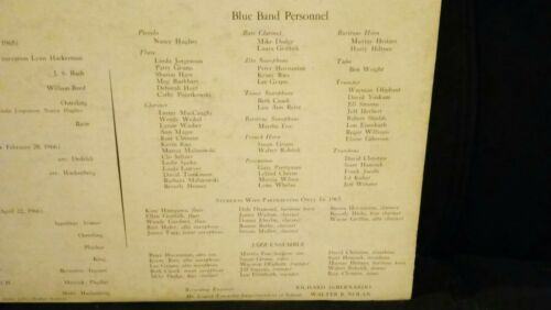 Mount Laurel Township Blue Band NJ David Hackenberg Lp Record 1965 1966 - $29.99
