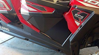 Polaris RZR XP4 1000 Lower Door Panels + Plus Triangles, Black, Set of 6 Panels
