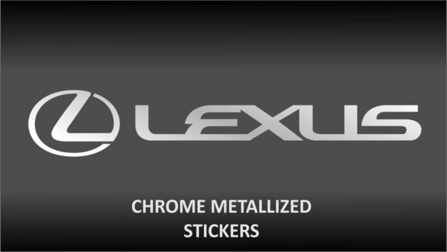 Lexus chrome body glass decal sticker stickers gs is ls lx rx sc ct is200