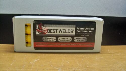 12 NEW BEST WELDS 900-PAINTMKR-YEL PRIME ACTION PAINTMARKER  FREE 1ST CLS S&H