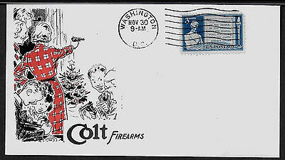 1950 Colt Firearms Xmas ad Featured on Collector's Envelope *A949