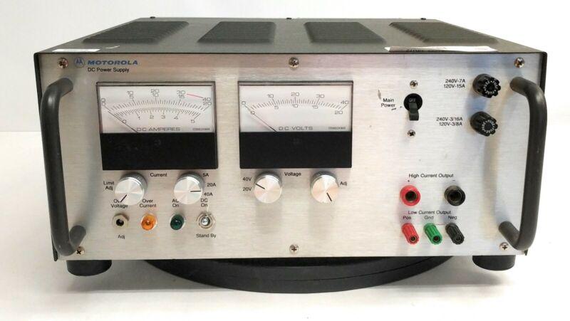 Motorola R1011B Variable DC Power Supply 0 - 40VDC 0 - 40A 600W