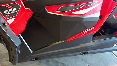 Polaris RZR XP 1000 Lower Front Door Panels + Triangles, Black, Set of 4 Panels