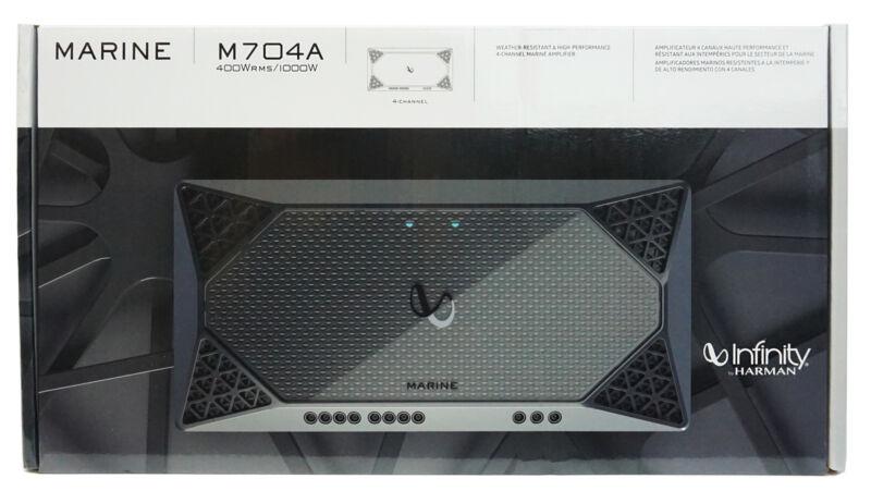 Infinity 4-Channel 1000 W Peak Weather-Resistant Outdoor Marine Amplifier *M704A
