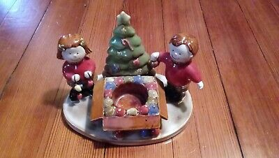 Yankee Candle Co. Kids with Christmas Tree Votive Candle Tealight Candle Holder