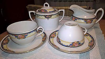 Servizio da tè 7 tazze e accessori in porcellana Wonderful Tea Set Porcelain