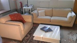 Moran 3 Seater Sofa and 1 Seater Leather Chair North Sydney North Sydney Area Preview