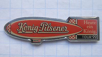 KÖNIG - PILSENER / ZEPPELIN / TOUR 99  / DUISBURG ...Bier-Ballon-Pin (129e)
