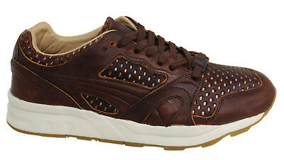 Puma Trinomic XT2+ Leather Lace Up Mens Brown Trainers 358822 03 B45D