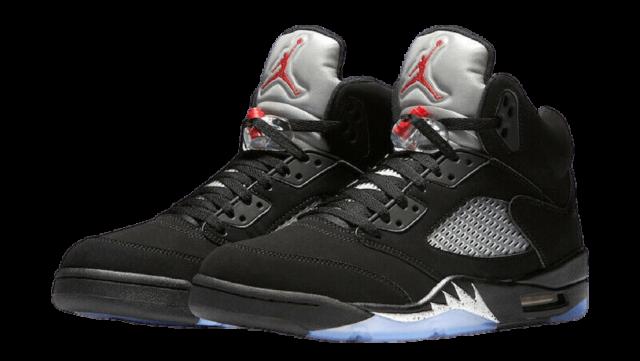 9 Jordan Black Metallic Silver.