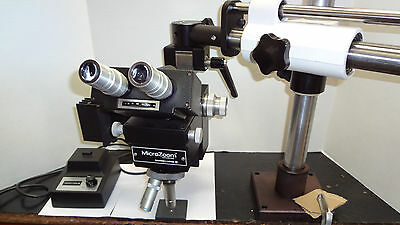 Bl Bausch Lomb Microzoom Long Wd On Boom Stand Newport Table Mount