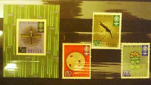 POLAND STAMPS MNH Fi1198-00+bl25 Sc1087-89 Mi1346-48+bl27 - Malaria, 1962, clean - Reda, Polska - POLAND STAMPS MNH Fi1198-00+bl25 Sc1087-89 Mi1346-48+bl27 - Malaria, 1962, clean - Reda, Polska