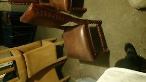 set of 2 leather chairs