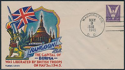 905  Capital Of Burma  On Wwii Patriotic Cover By Fluegel Bs2565